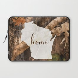 Wisconsin is Home - Camo Laptop Sleeve