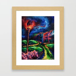 """""""The Crossroad"""" Painting Framed Art Print"""