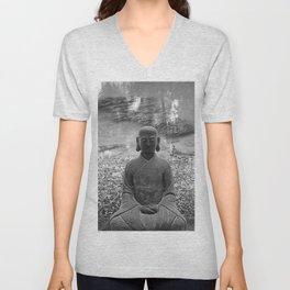 Sitting Buddha Unisex V-Neck