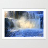 Cascading falls Art Print