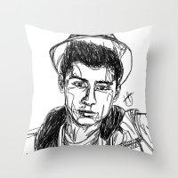 zayn malik Throw Pillows featuring Zayn Malik by Hollie B