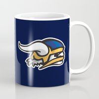 vikings Mugs featuring Norwegian Vikings Logo by Griffey Challenge