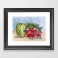 Produce Framed Art Print