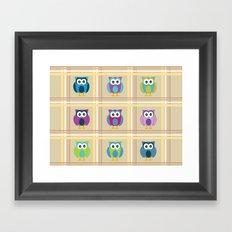 Plaid Owls Framed Art Print