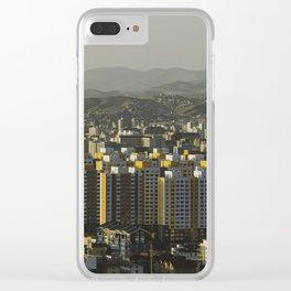Ulan Bator Skyline Clear iPhone Case