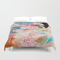 drunk Duvet Covers featuring Drunk Painting by Kim Leutwyler