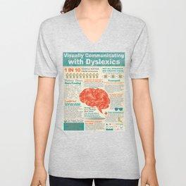 Visually Communicating with Dyslexics Infrographic Unisex V-Neck