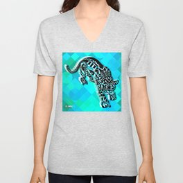 Cougar from the blue Sky ecopop Unisex V-Neck