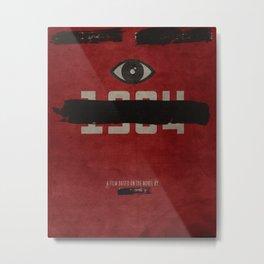 George Orwell's 1984 Inspired Vintage Movie Poster Metal Print