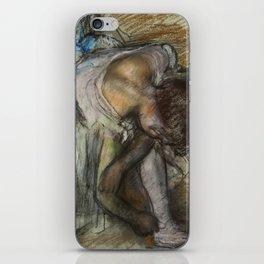 "Edgar Degas ""Dancer adjusting her shoe"" iPhone Skin"