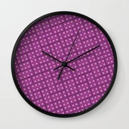 Building Blocks, Light Purple Bricks Wall Clock