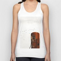 pocket fuel Tank Tops featuring old fuel pump by Cenk Cansever