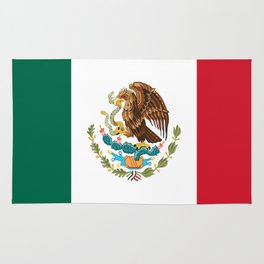 mexican sports fan mexico flag Rug