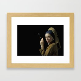 Girl with pearl earring - Ragazza col turbante Framed Art Print
