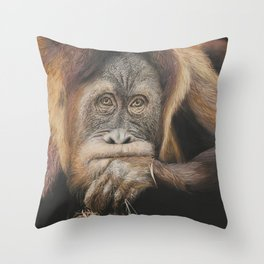 Person of the Forest Throw Pillow