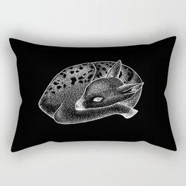 White Doe Rectangular Pillow