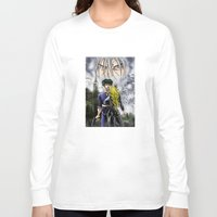 cowboy bebop Long Sleeve T-shirts featuring Cowboy Bebop - A Walk In The Rain by MarioRojas