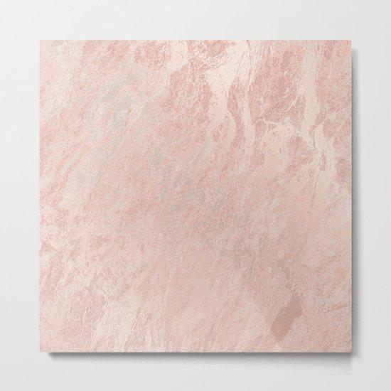 Rose Gold Foil Metal Print