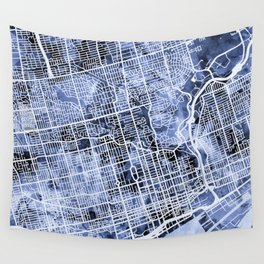 Toronto Street Map Wall Tapestry