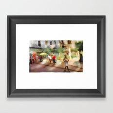 Havana Downtown Promenade / Cuba Framed Art Print