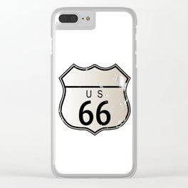 Blank Route 66 Sign Clear iPhone Case