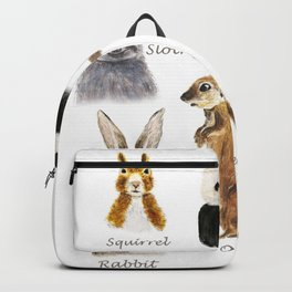 cute animals watercolor collection Backpack