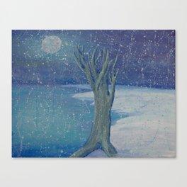 Night Snow Canvas Print
