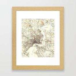 Vintage Map of Jacksonville Florida (1918) Framed Art Print