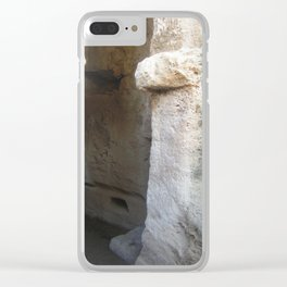 Colour Travel Photograph Rock and a hard place #2 Clear iPhone Case