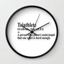 Funny Triathlon Definition Wall Clock
