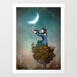 Moondrops Art Print