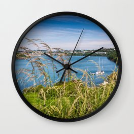 View of Kinsale, Ireland from Summer Cove Wall Clock