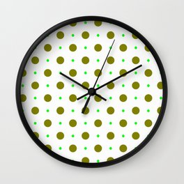 new polka dot 88 green Wall Clock