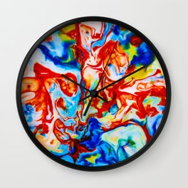 Milkblot No. 8 Wall Clock