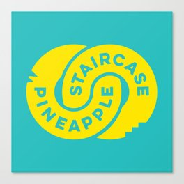 PineappleStaircase | Official Logocolor 2015 in Turquoise/Yellow Canvas Print