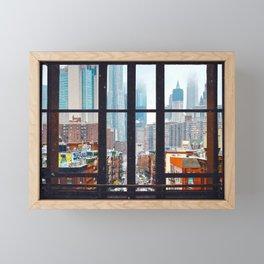 New York City Window Framed Mini Art Print