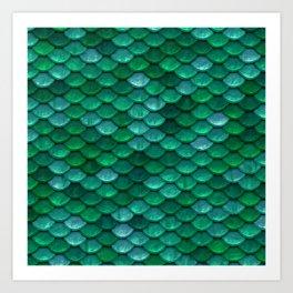 Green Penny Scales Art Print