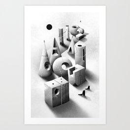 Ciudades sutiles Art Print