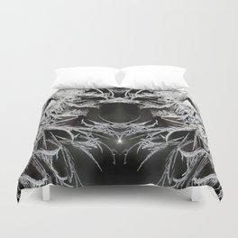 Ice Crystals In Black And White #decor #society6 #homedecor Duvet Cover