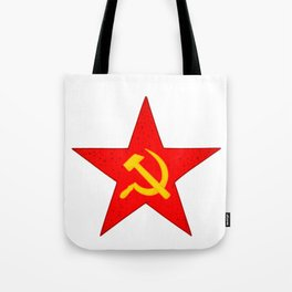 USSR red star pattern Tote Bag