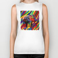 indonesia Biker Tanks featuring Full color abstract Elephant iPhone 4 4s 5 5c 6, pillow case, mugs and tshirt by Three Second