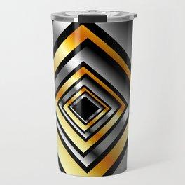 Composition with metallic squares-metal texture with illusion effectComposition with metallic square Travel Mug