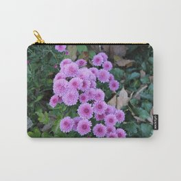 Pink Straw Flowers Carry-All Pouch
