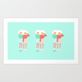 Sunny Side Up Twins Art Print