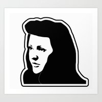ellie goulding Art Prints featuring Ellie Goulding Stencil by NicoStuart