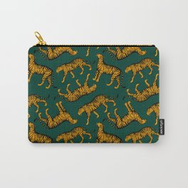 Tigers (Dark Green and Marigold) Carry-All Pouch
