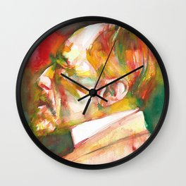 JOSEPH CONRAD watercolor portrait.3 Wall Clock