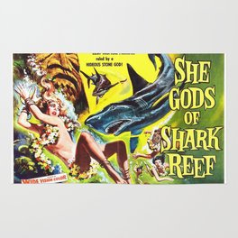 Vintage Classic Movie Posters, She Gods of Shark Reef Rug