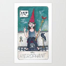 The Solipsist Tarot | V - The Hierophant Art Print