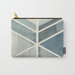 Geometric Watercolor Print Carry-All Pouch